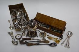 Various silver, ep and other flatware, cutlery and tableware