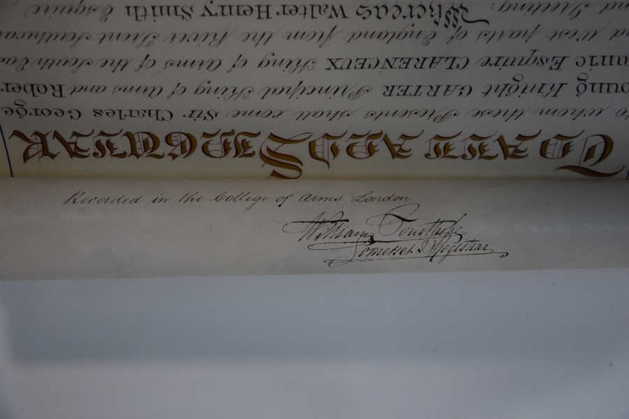 Victorian Grant of Arms - Image 8 of 18