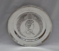 The Annigoni Royal Silver Jubilee Plate, designed by Pietro Annigoni,