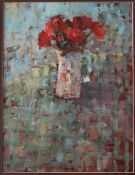 Andrew Douglas Forbes A study in red Oil on board 28 x 21cm ***Artists resale rights may apply to
