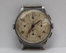 A Gentleman's Universal Geneve Aero-Compax chronograph wristwatch,