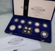 Royal Mint - The United Kingdom Millennium silver collection, to include thirteen coins,