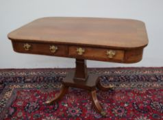 A Regency rosewood library table,