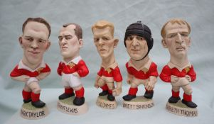 Groggs - A collection of five resin Millenium Grogg Minis, including Mark Taylor, Geraint Lewis,