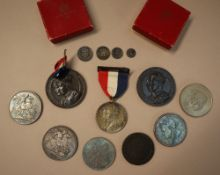 Maundy money - A set of four Victorian silver coins, 4d, 3d, 2d and 1d dated 1889,