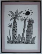 Ken Done Palm trees A limited edition lithograph, No.