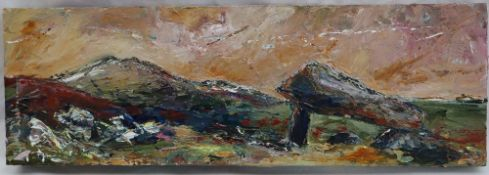 Ruth Robinson Cromlech, St Davids Head Oil on canvas Signed and dated 2011 verso 15.5 x 45.