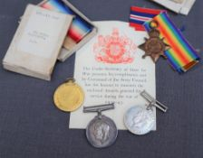 A set of three World War I medals including The British War Medal,
