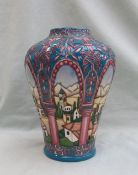 """A Moorcroft pottery high shouldered vase decorated in the """"Alhambra"""" pattern,"""