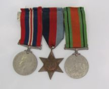 Three World War II medals including the The War Medal,