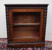 A 19th century rosewood dwarf display cabinet,
