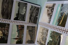 Two albums of post cards, circa 288 mainly of South Wales including scenes of Cardiff, Penarth,