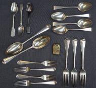 A late George III silver table spoon, Dublin, 1791, John Laughlin,