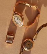 A Lady's 18ct yellow gold wristwatch, the square dial with Arabic numerals inscribed Altair,