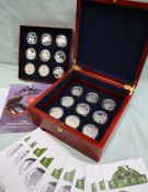 The Royal Mint - A set of eighteen silver coins celebrating The Golden Age of Steam, No.