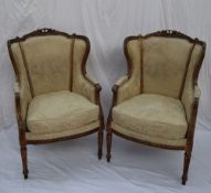 A pair of French Feauteuil,
