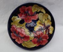 A Moorcroft pottery pedestal bowl,