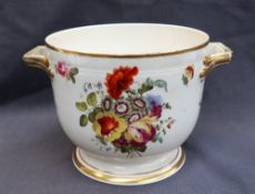 A 19th century twin handled Derby Ice Pail,