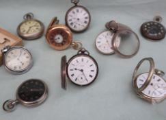 An Edwardian silver open faced pocket watch,