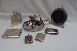 A George V silver hip flask, London, 1930, Padgett & Brahm Ltd,