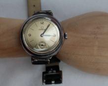 A Gentleman's silver Omega wristwatch,