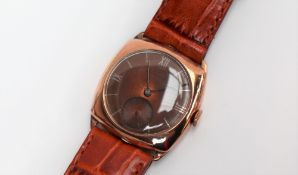 A Gentleman's 9ct yellow gold Longines wristwatch,