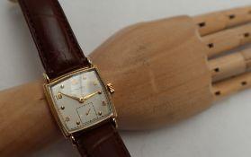 A Gentleman's Hamilton 14k gold filled wristwatch,