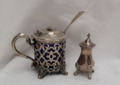 An early Victorian silver mustard pot and cover,