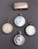 A George V silver open faced pocket watch,