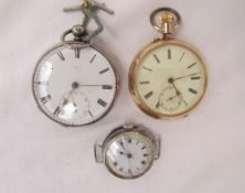 A 14k yellow gold pocket watch,