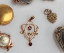 A lady's 9ct gold wristwatch,