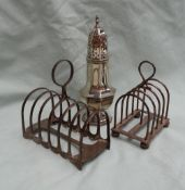 A George V silver six division toast rack, Sheffield,