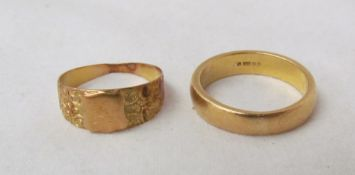 A 22ct yellow gold wedding band, approximately 8.