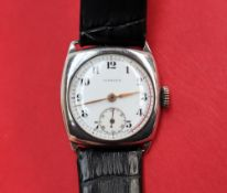 A Gentleman's silver wristwatch,
