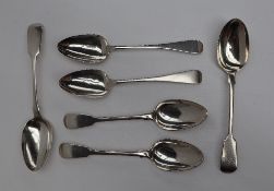 A pair George III silver table spoons, London, 1803, William Eley & William Fearn,