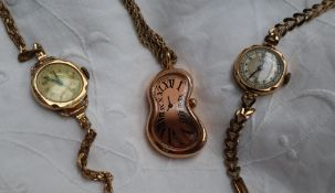 A Lady's Medana 9ct yellow gold wristwatch, together with another wristwatch,