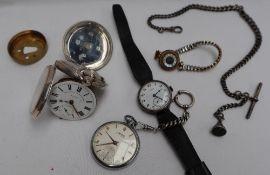 An Edward VII silver open faced pocket watch,