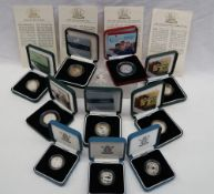 Royal Mint - Silver proof Piedfort 50p coin,