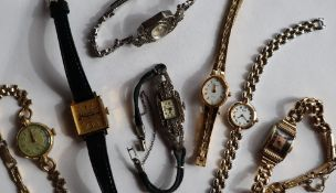 A Lady's marcasite set cocktail watch together with a collection of Lady's wristwatches
