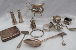 A George III silver table spoon, Exeter, 1801, Richard Jenkins,