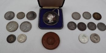 A silver Stampex Trophy Contest Award medallion together with a bronze Aston Hall and park