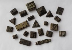 A collection of Chinese bronze printing blocks