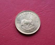 A 1974 gold Krugerrand