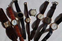 A Gentleman's 9ct yellow gold Rodana wristwatch,