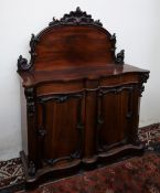 A Victorian rosewood chiffonier,