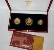 Royal Mint - 2003 gold proof Britannia three coin collection, including a £50,
