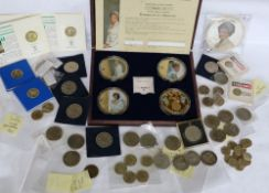 Windsor Mint - Portraits of a Princess, a set of four gold plated and Swarovski medallions, cased,