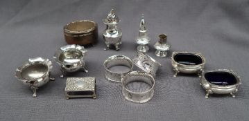 A set of three Victorian silver napkin rings, London, 1863 and 1864, Chawner & Co.