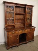 An 18th century and later oak dresser,