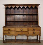 An 18th century South Wales oak dresser,